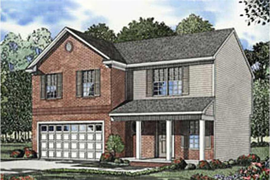 4-Bedroom, 1771 Sq Ft Country House Plan - 153-1291 - Front Exterior