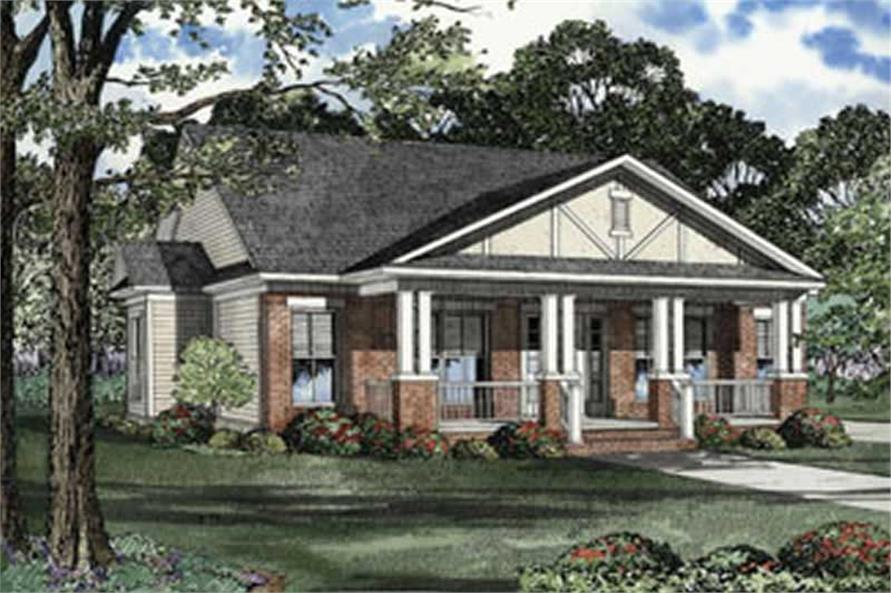 3-Bedroom, 1399 Sq Ft Craftsman House Plan - 153-1293 - Front Exterior