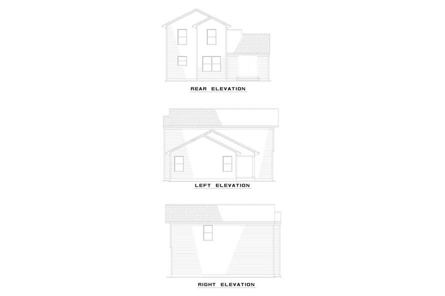 EXTERIOR ELEVATIONS of this 3-Bedroom,1286 Sq Ft Plan -1286