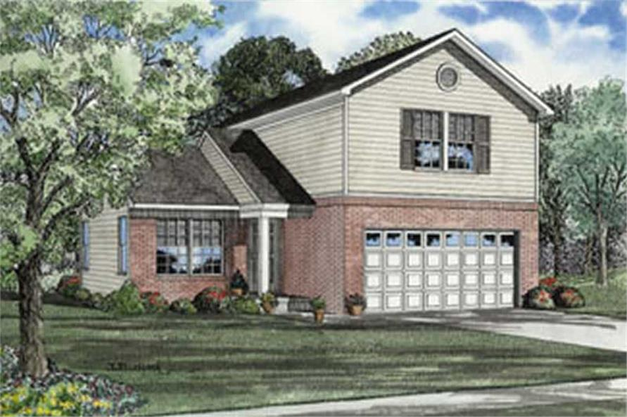 3-Bedroom, 1286 Sq Ft Country House Plan - 153-1294 - Front Exterior