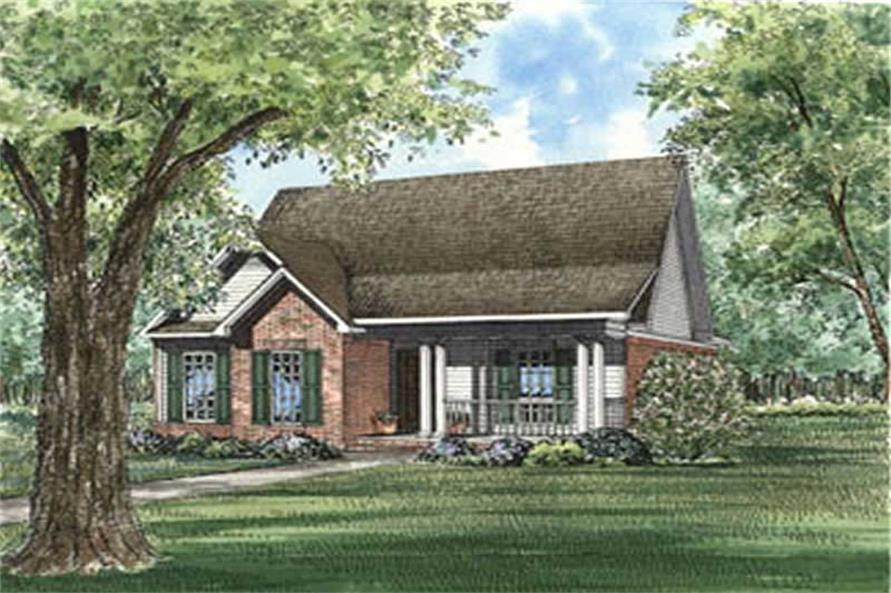 3-Bedroom, 1935 Sq Ft Country Home Plan - 153-1295 - Main Exterior