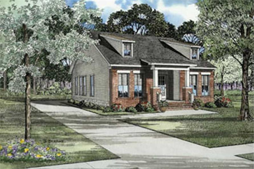3-Bedroom, 1259 Sq Ft Craftsman House Plan - 153-1297 - Front Exterior