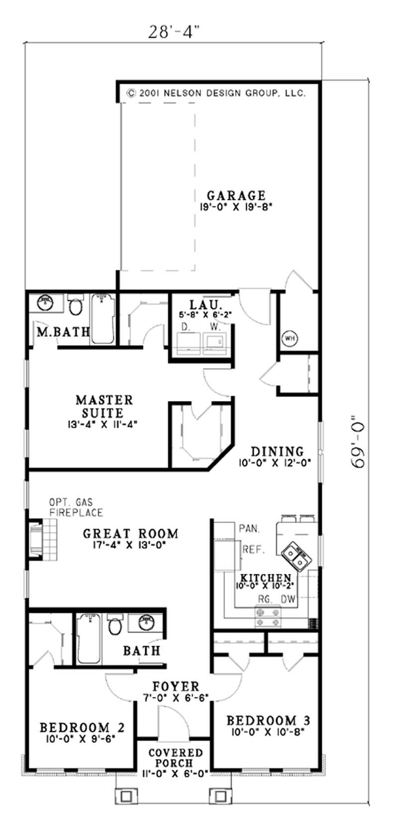 Small arts and crafts house plans home design ndg626 4062 for Arts crafts house plans