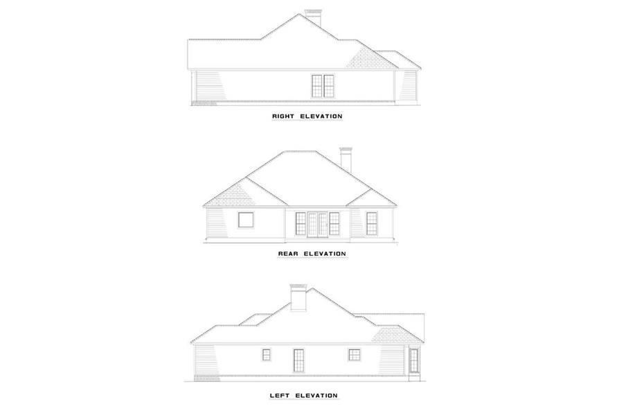 EXTERIOR ELEVATIONS of this 3-Bedroom,1928 Sq Ft Plan -1928