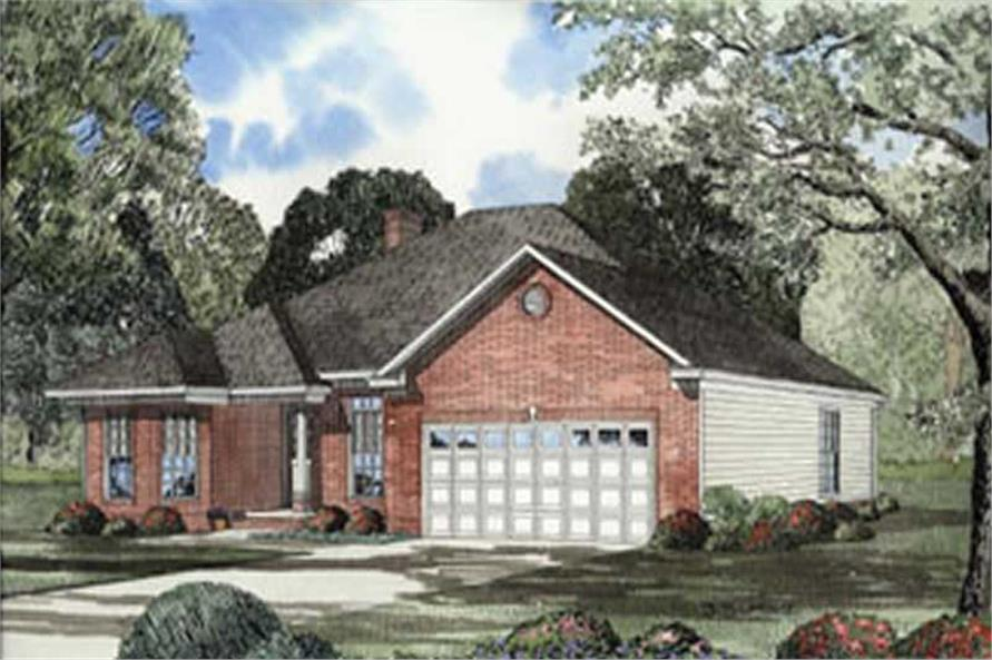 3-Bedroom, 1928 Sq Ft Country House Plan - 153-1298 - Front Exterior
