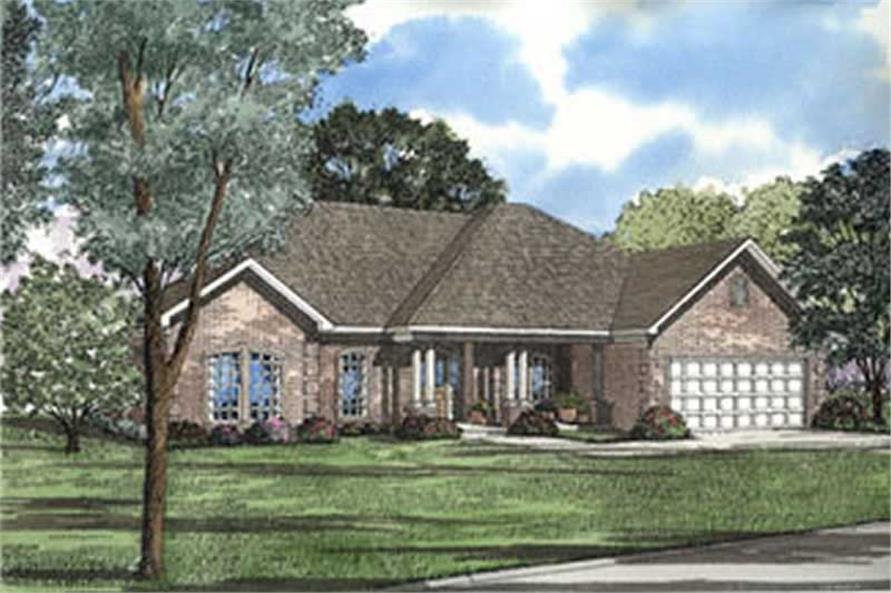 4-Bedroom, 2214 Sq Ft Southern House Plan - 153-1299 - Front Exterior