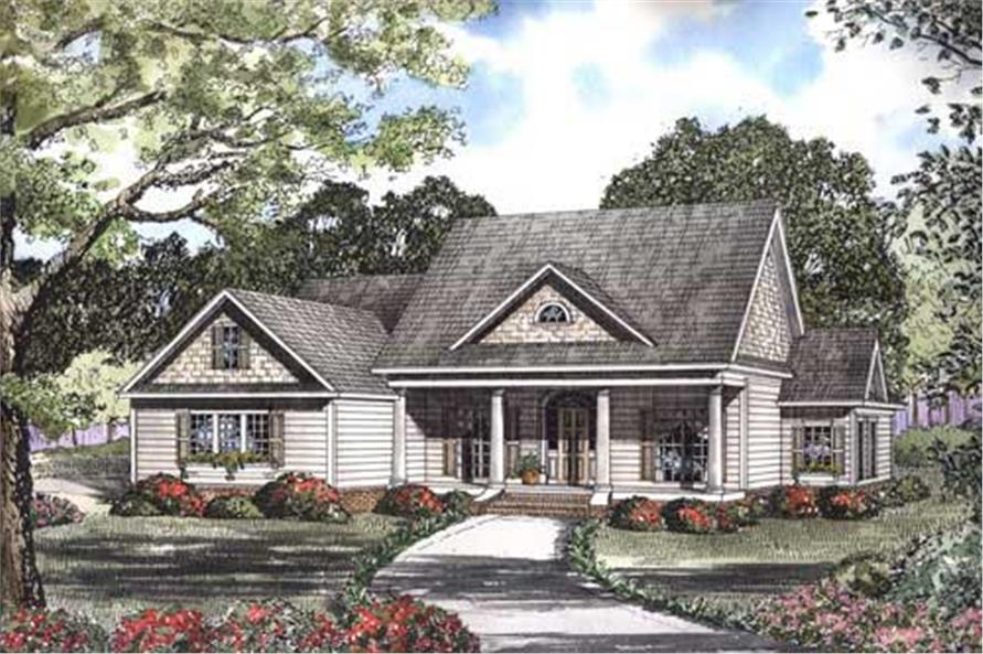 5-Bedroom, 3137 Sq Ft Country House Plan - 153-1300 - Front Exterior