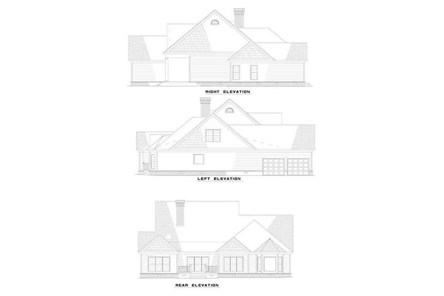 EXTERIOR ELEVATIONS of this 5-Bedroom,3137 Sq Ft Plan -3137