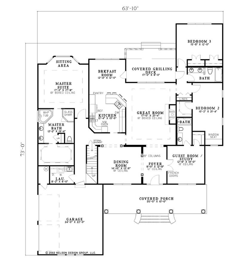 Country house plan 5 bedrms 4 baths 3137 sq ft 153 for Cost to build 1300 square foot house