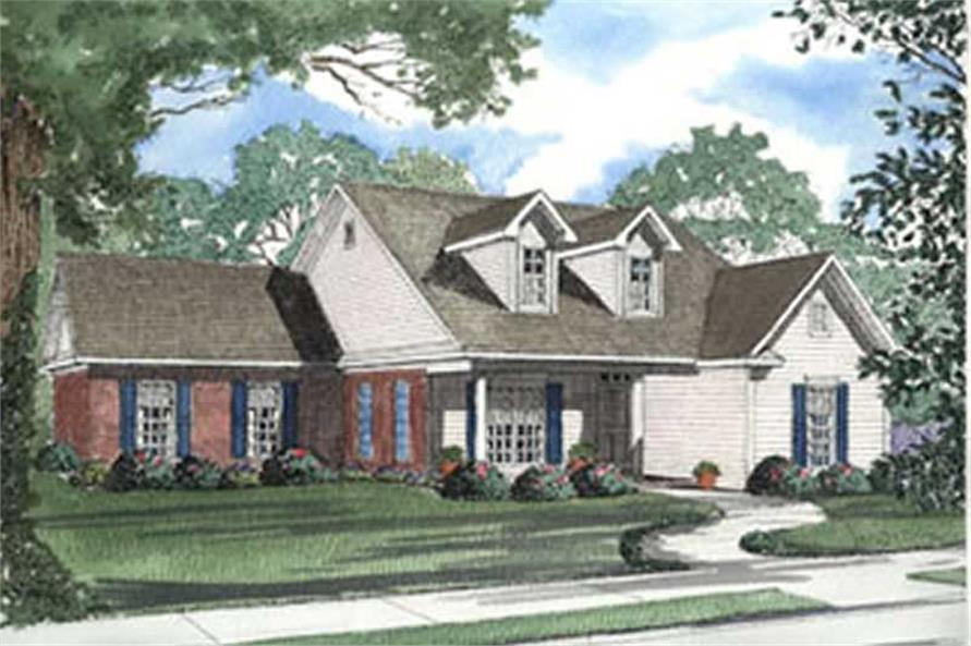 3-Bedroom, 1881 Sq Ft Ranch Home Plan - 153-1301 - Main Exterior