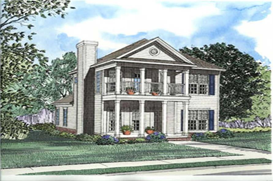 3-Bedroom, 1672 Sq Ft Country Home Plan - 153-1302 - Main Exterior
