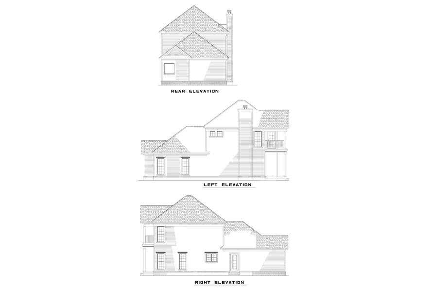 Home Plan Rear Elevation of this 3-Bedroom,1672 Sq Ft Plan -153-1302