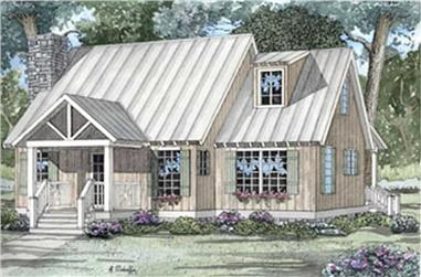 2-Bedroom, 1425 Sq Ft Country Home Plan - 153-1304 - Main Exterior