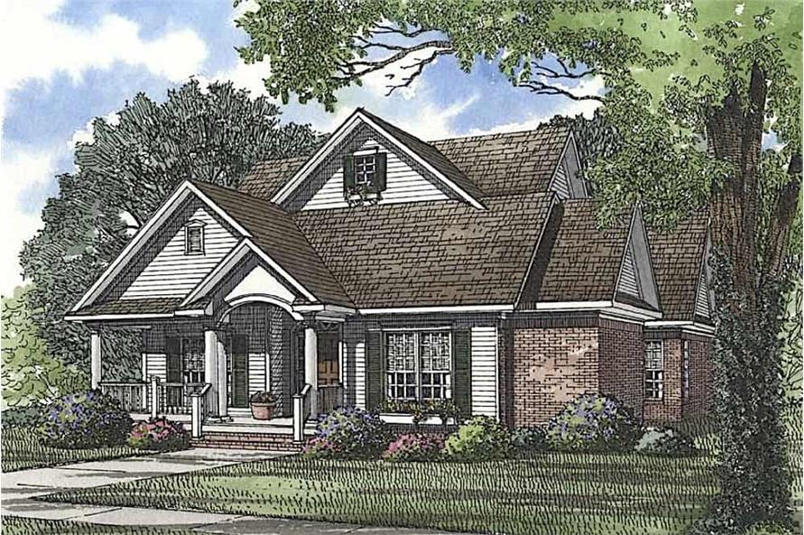 Front View of this 3-Bedroom,2146 Sq Ft Plan -153-1305