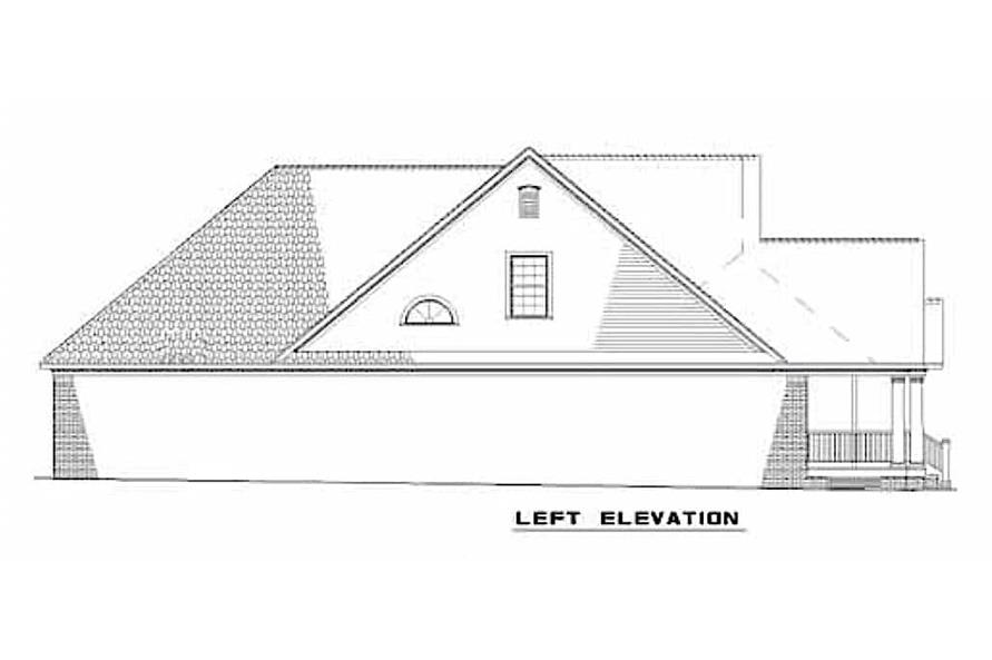 Home Plan Left Elevation of this 3-Bedroom,2146 Sq Ft Plan -153-1305
