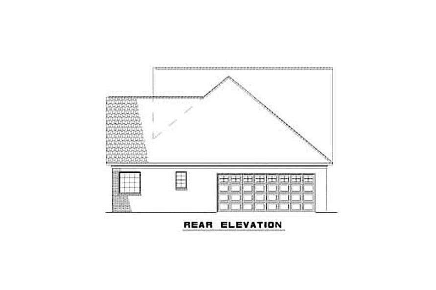 Home Plan Rear Elevation of this 3-Bedroom,2146 Sq Ft Plan -153-1305