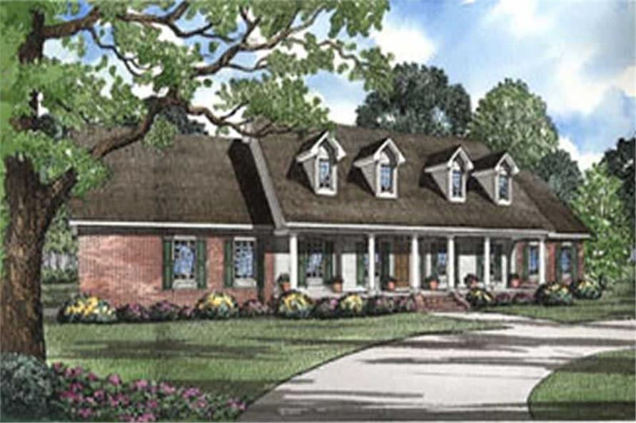 4-Bedroom, 3217 Sq Ft Country House Plan - 153-1306 - Front Exterior