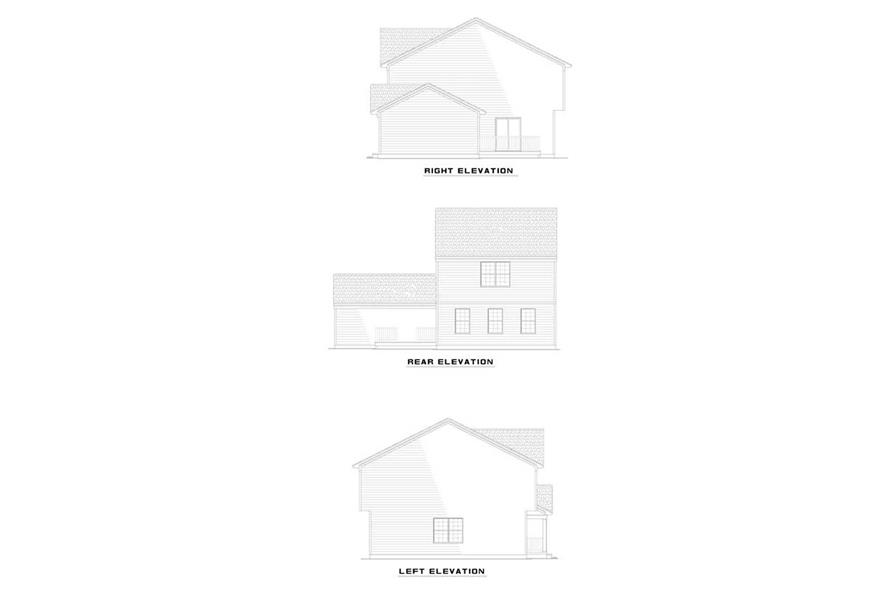 EXTERIOR ELEVAITONS of this 3-Bedroom,1677 Sq Ft Plan -1677