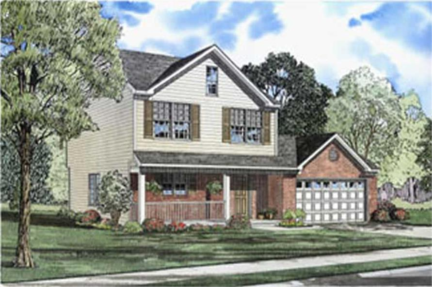 3-Bedroom, 1677 Sq Ft Country House Plan - 153-1312 - Front Exterior