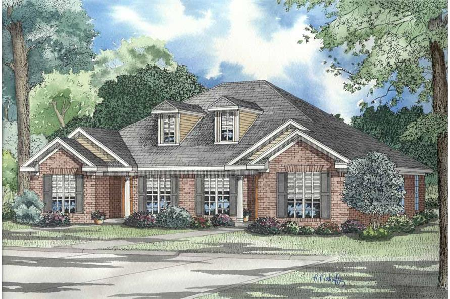 2-Bedroom, 1055 Sq Ft Multi-Unit Home Plan - 153-1316 - Main Exterior