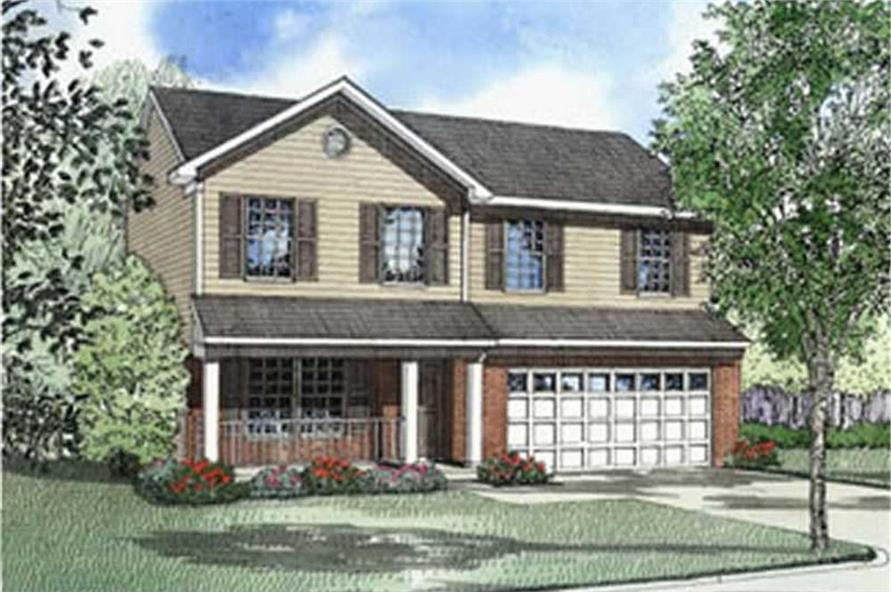 4-Bedroom, 1789 Sq Ft Country House Plan - 153-1317 - Front Exterior