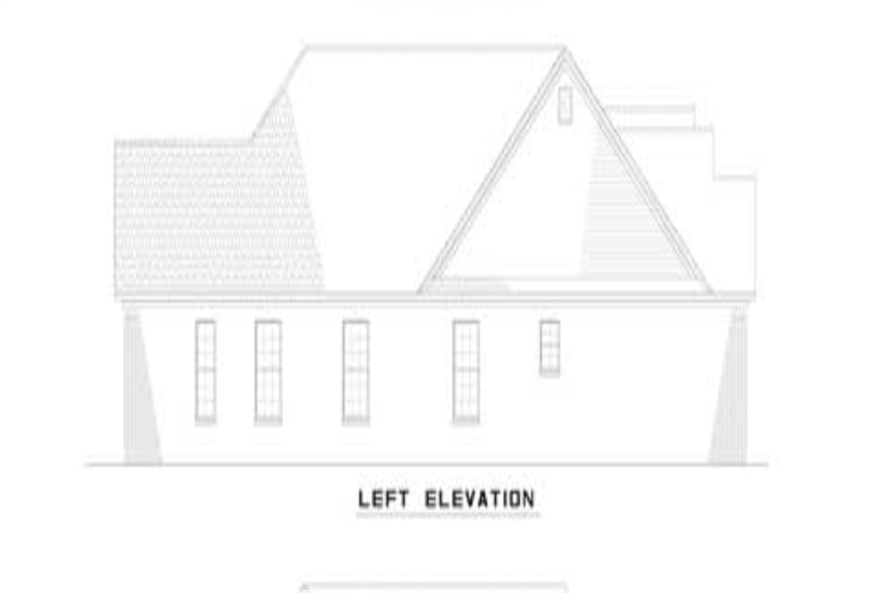 Home Plan Left Elevation of this 6-Bedroom,2910 Sq Ft Plan -153-1319