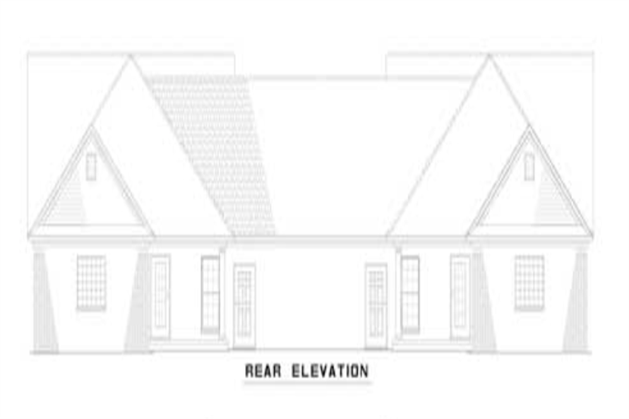 Home Plan Rear Elevation of this 6-Bedroom,2910 Sq Ft Plan -153-1319