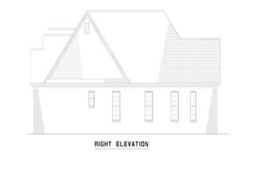 Home Plan Right Elevation of this 6-Bedroom,2910 Sq Ft Plan -153-1319