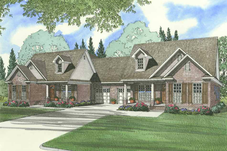 Multi unit house plan 153 1319 6 bedrm 2910 sq ft per for Multi unit home plans
