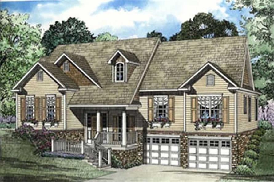 3-Bedroom, 2010 Sq Ft Southern House Plan - 153-1320 - Front Exterior