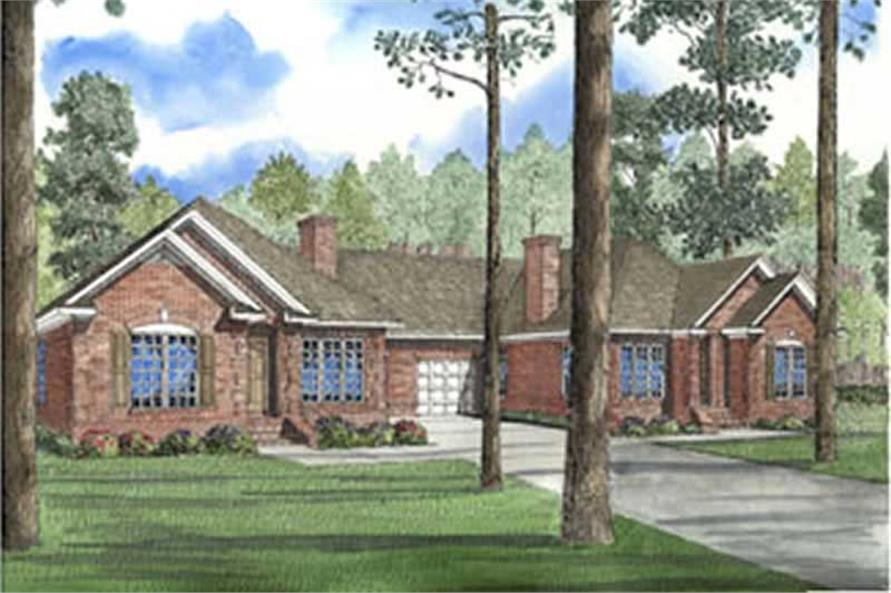 6-Bedroom, 1619 Sq Ft Multi-Unit Home Plan - 153-1321 - Main Exterior