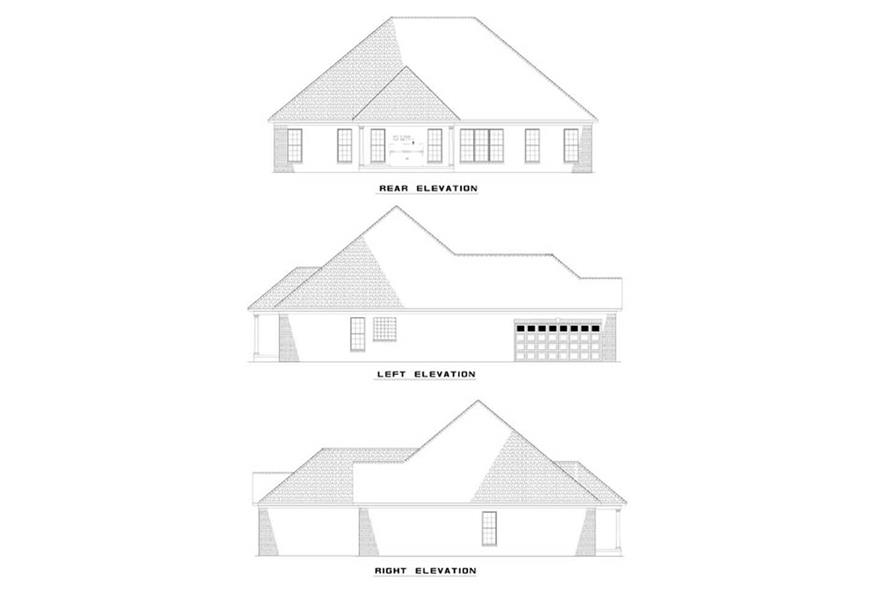 EXTERIOR ELEVATONS of this 4-Bedroom,2187 Sq Ft Plan -2187