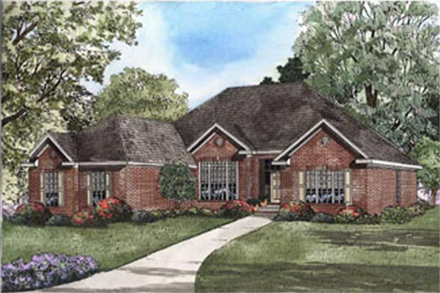 4-Bedroom, 2187 Sq Ft Southern House Plan - 153-1325 - Front Exterior