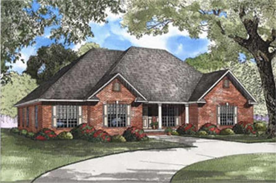 4-Bedroom, 2394 Sq Ft Country House Plan - 153-1326 - Front Exterior