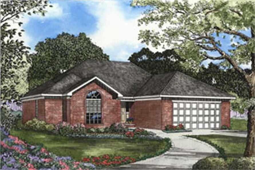3-Bedroom, 1574 Sq Ft Contemporary House Plan - 153-1327 - Front Exterior
