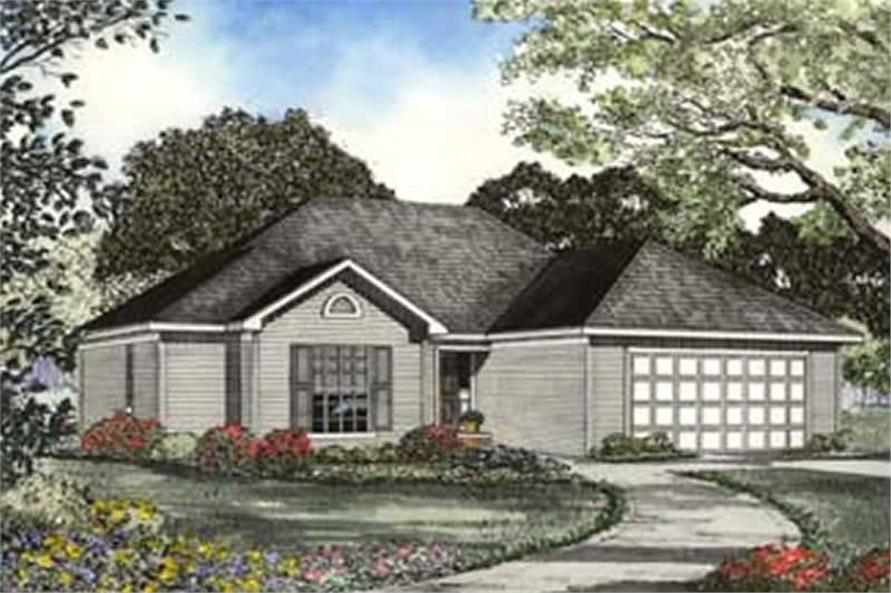 Home Plan Rendering of this 3-Bedroom,1574 Sq Ft Plan -153-1327