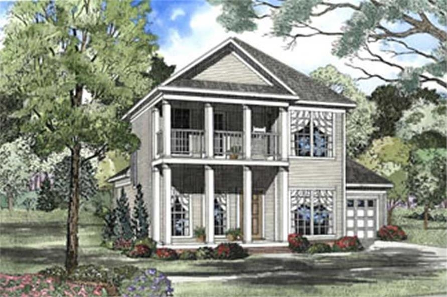3-Bedroom, 1651 Sq Ft Southern House Plan - 153-1328 - Front Exterior