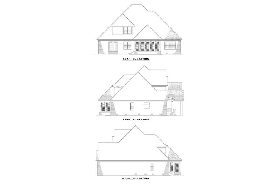 EXTERIOR ELEVATIONS of this 3-Bedroom,2360 Sq Ft Plan -2360