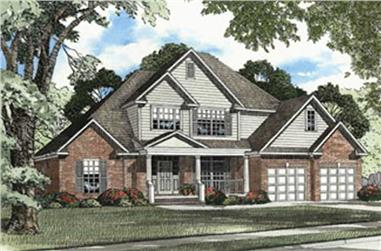 3-Bedroom, 2360 Sq Ft French House Plan - 153-1329 - Front Exterior