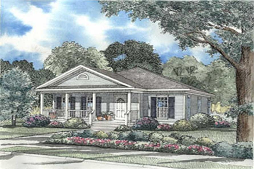 3-Bedroom, 1342 Sq Ft Country Home Plan - 153-1331 - Main Exterior
