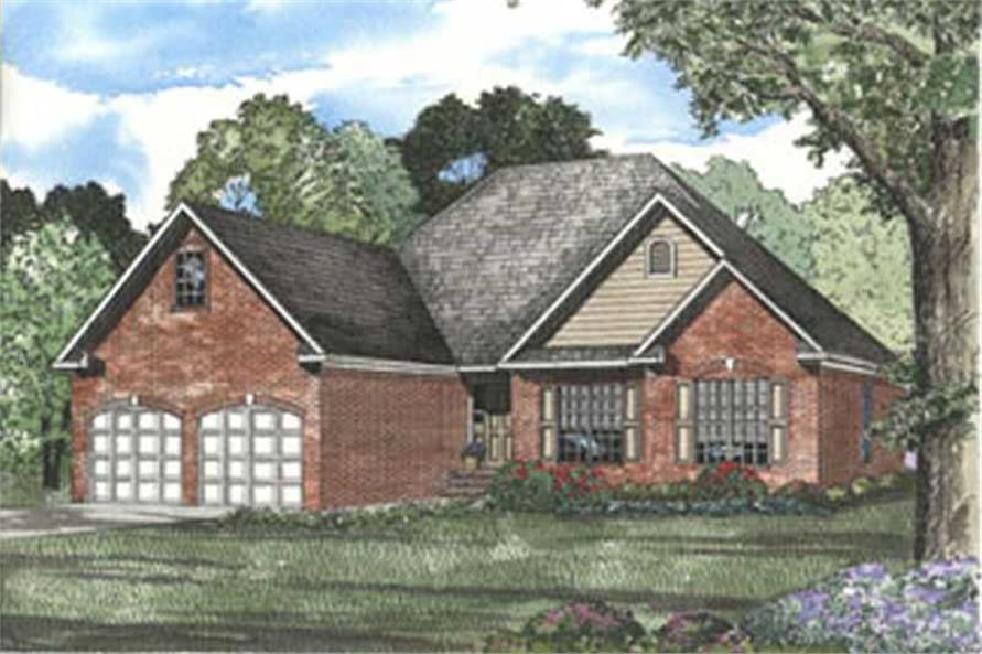 3-Bedroom, 1732 Sq Ft Contemporary House Plan - 153-1333 - Front Exterior