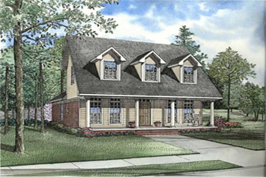 3-Bedroom, 1543 Sq Ft Country House Plan - 153-1336 - Front Exterior