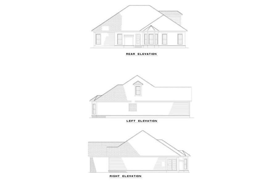 EXTERIOR ELEVATIONS of this 3-Bedroom,1786 Sq Ft Plan -1786