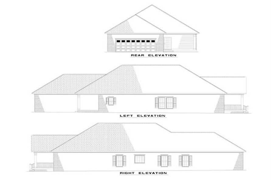EXTERIOR ELEVATIONS of this 3-Bedroom,1811 Sq Ft Plan -1811
