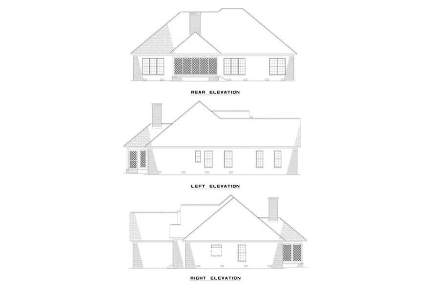EXTERIOR ELEVATIONS of this 3-Bedroom,2014 Sq Ft Plan -2014