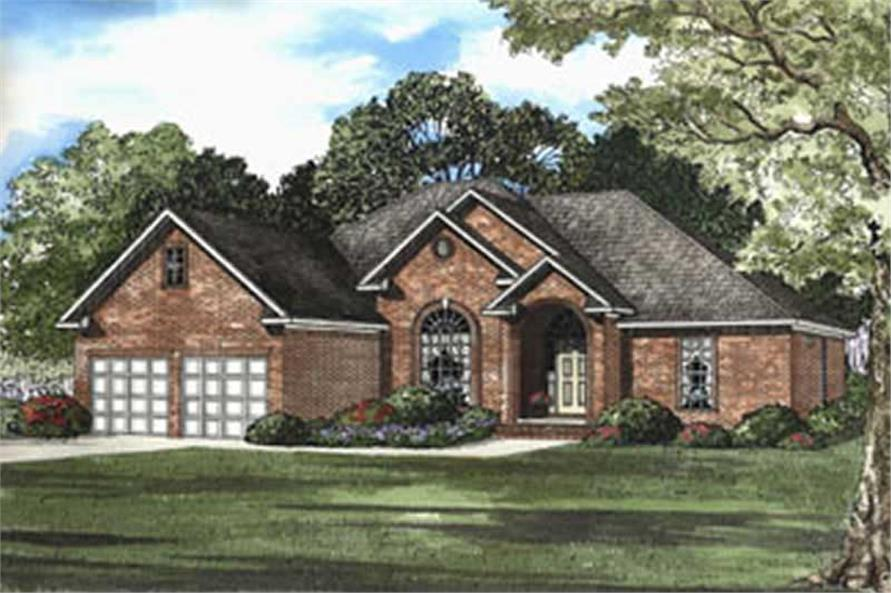 3-Bedroom, 2014 Sq Ft French House Plan - 153-1339 - Front Exterior