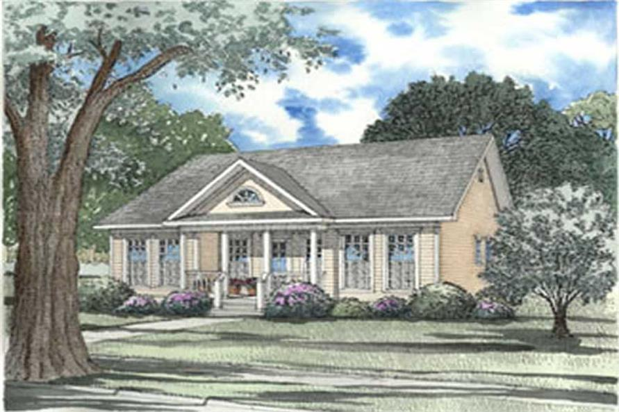 3-Bedroom, 1442 Sq Ft Country Home Plan - 153-1340 - Main Exterior