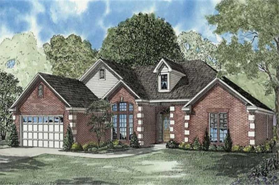 4-Bedroom, 2217 Sq Ft Ranch House Plan - 153-1341 - Front Exterior