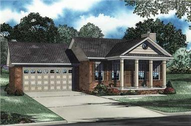 2-Bedroom, 1169 Sq Ft Country Home Plan - 153-1346 - Main Exterior