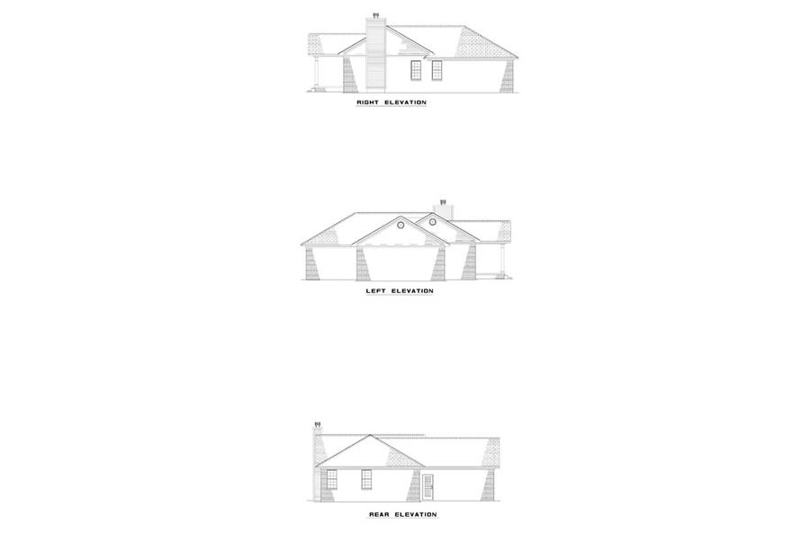 EXTERIOR ELEVATIONS of this 2-Bedroom,1169 Sq Ft Plan -1169